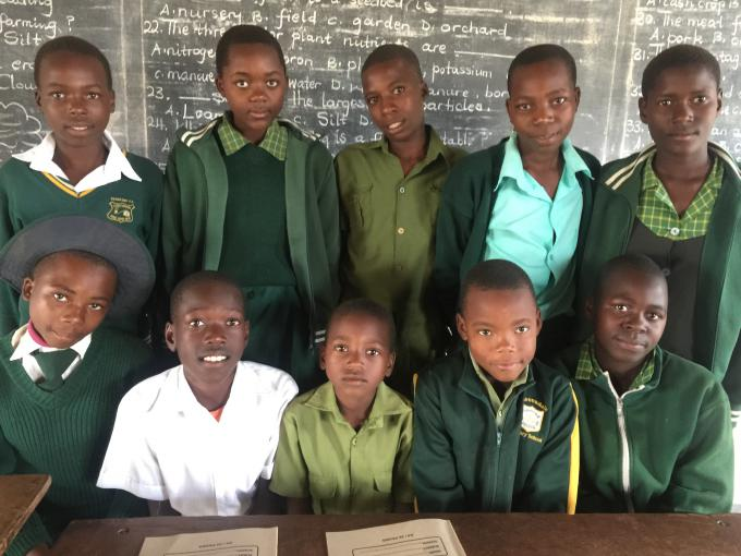 Members of Gwangwava Primary School Junior School Development Committee, Junior Child Protection Committee and Disaster Risk Reduction Committee.