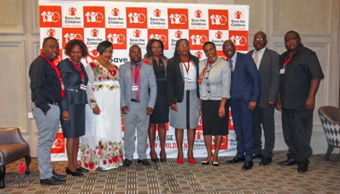 Save the Children staff members at the centenary celebrations