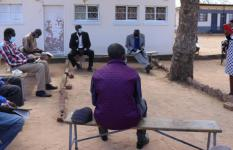 Traditional leaders COVID-19 Awareness and Sensitisation training being conducted in Hwange
