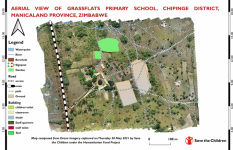 Map shows Aerial View of Grassflats Primary School